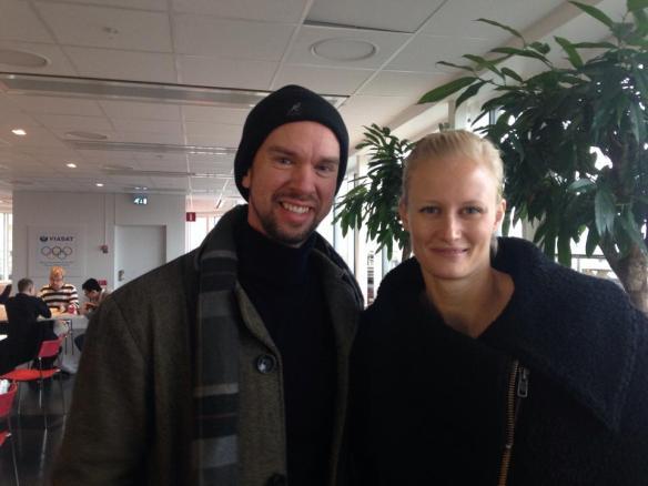 Erik Lundback och Karolina Klüft